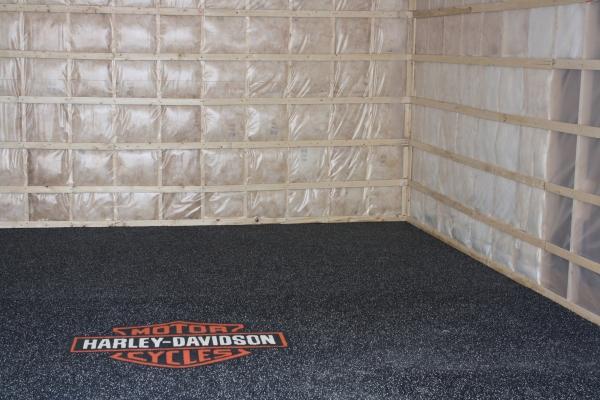 Sol souple amortissant flextek - Revetement de plancher de garage en pvc ...